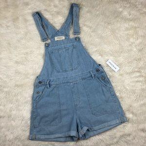 Pacsun denim short overalls